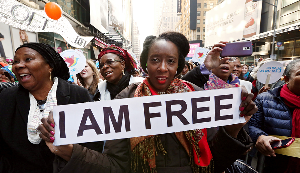 I Am Free - International Women's Day 2015, New York